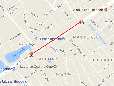 Desde las 00 hasta las 18:00 hs del día 11/02  doble sentido por Av Giannattasio senda sur desde Secco Gracia hasta Río Uruguay